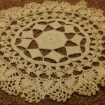 vintage crocheted lace doily